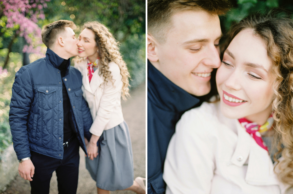 Engagement photosession on film. Wroclaw wedding photographer