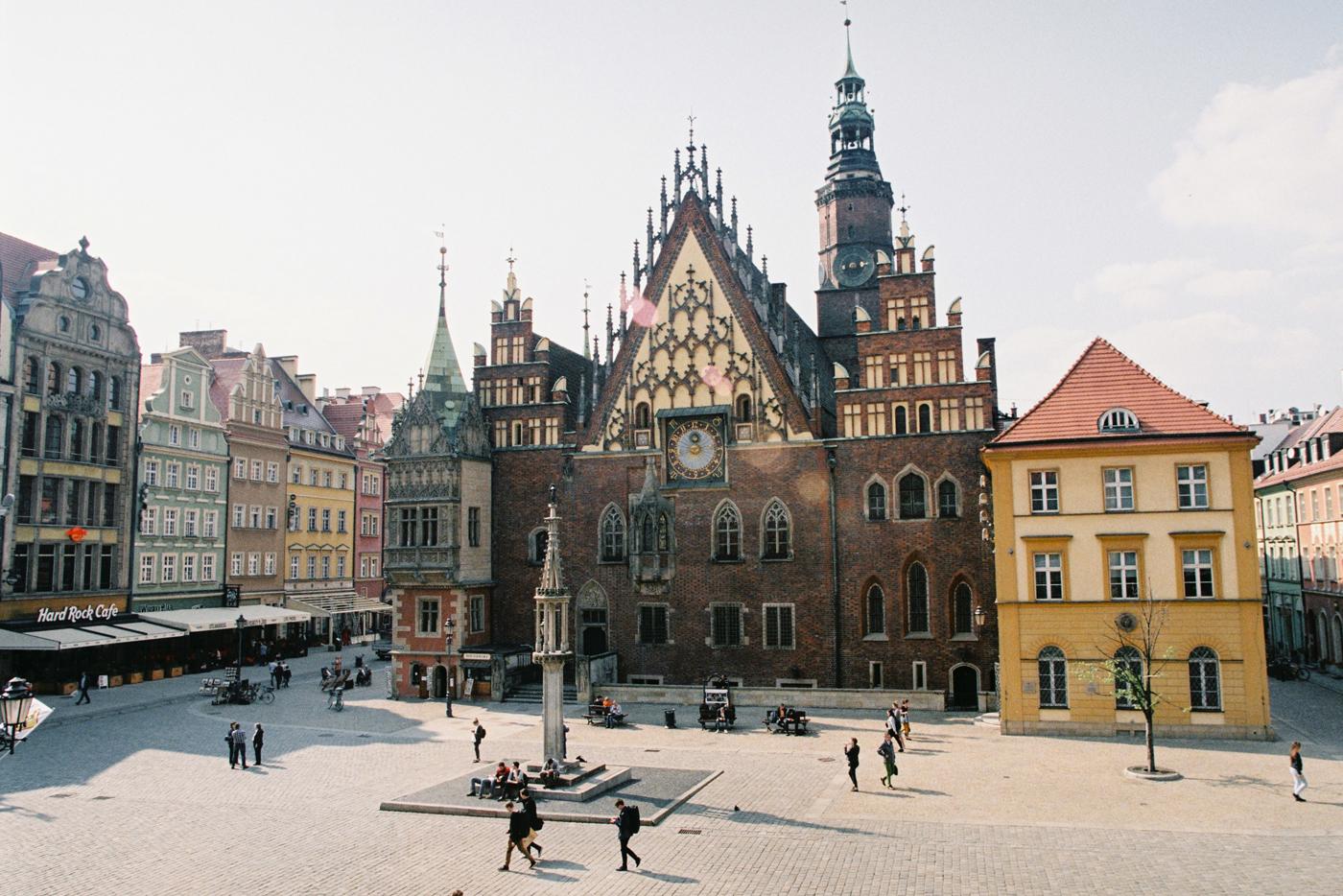 Площадь Рынок во Вроцлаве. Фотограф Польша