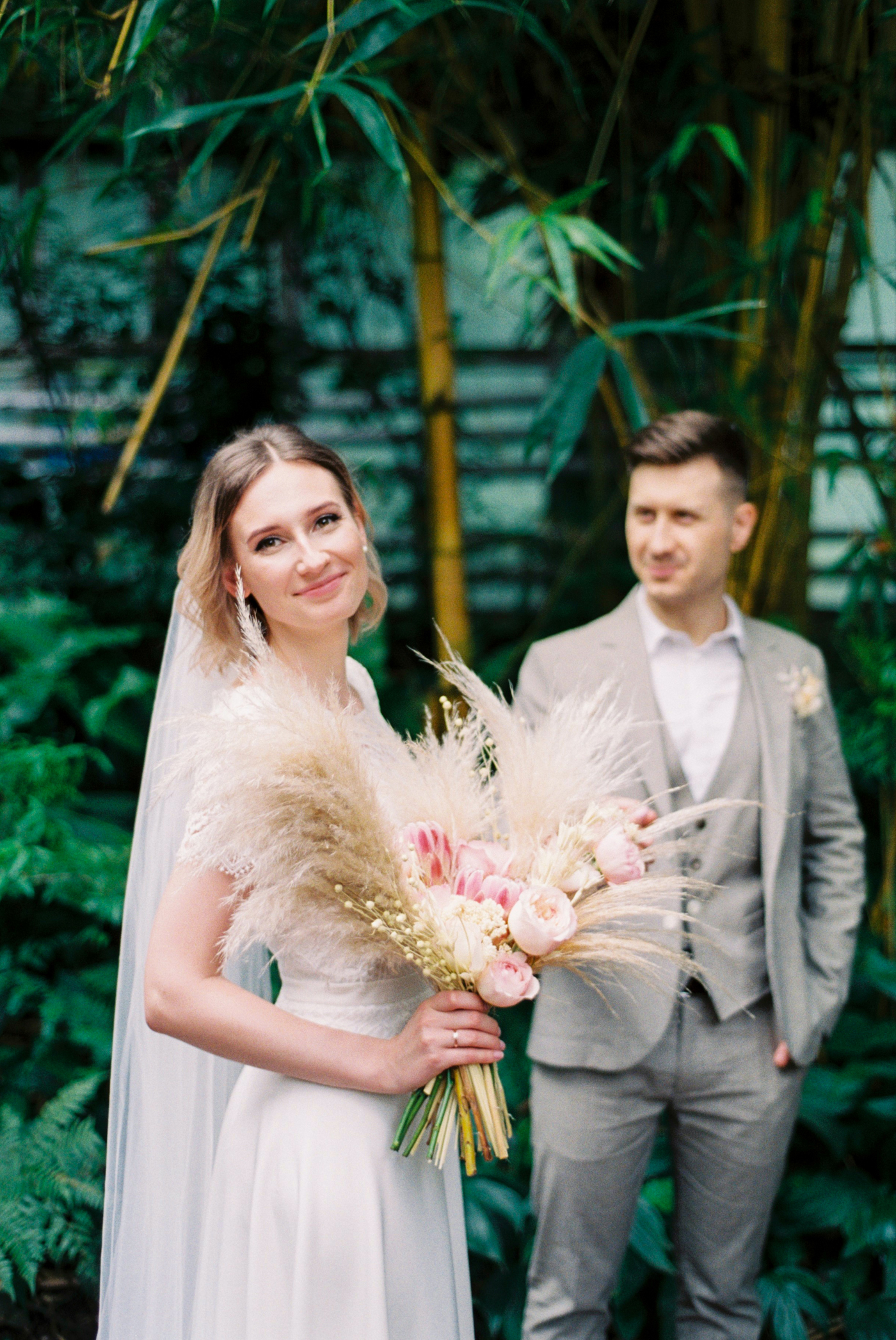 свадебная фотосессия в оранжерее Киев